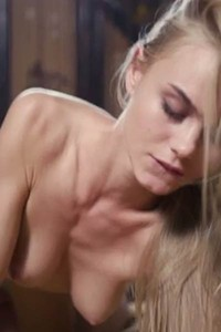 Alluring blonde Jane F takes his hard pole deep in the bedroom